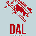 DAL Dallas Airport Poster 3 by Naxart Studio