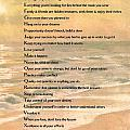 Dalai Lama A To Zen Of Life Typography On Watercolor Ocean Sunset by Desiderata Gallery