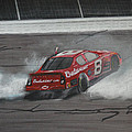 Dale Earnhardt Junior Victory Burnout by Paul Kuras