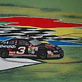 Dale Earnhardt Wins Daytona 500-infield Doughnuts by Paul Kuras