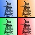 Dalek Pop Art by Richard Reeve