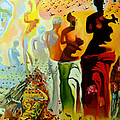 Dali Oil Painting Reproduction - The Hallucinogenic Toreador by Mona Edulesco