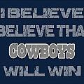 Dallas Cowboys I Believe by Joe Hamilton