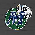 Dallas Mavericks Basketball Team Retro Logo Vintage Recycled Texas License Plate Art by Design Turnpike
