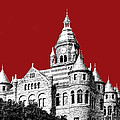 Dallas Skyline Old Red Courthouse - Dark Red by DB Artist