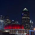 Dallas Skyline Arts District At Night by Jonathan Davison