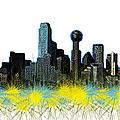 Dallas Skyline by Mim White