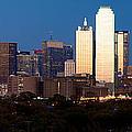 Dallas Skyline Sunset by Rospotte Photography