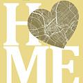 Dallas Street Map Home Heart - Dallas Texas Road Map In A Heart by Jurq Studio