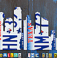 Dallas Texas Skyline License Plate Art By Design Turnpike by Design Turnpike