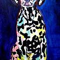 Dalmatian - Polka Dots by Alicia VanNoy Call