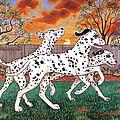 Dalmatians Three by Linda Mears