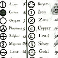 Daltons List Of Atomic Weights & Symbols by Science Photo Library