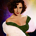 Dame Elizabeth Rosemond 'liz' Taylor - Featured In 'comfortable Art' Group by Ericamaxine Price