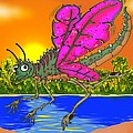 Dameon The Dragonfly  by Paul Calabrese