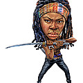 Danai Gurira As Michonne by Art