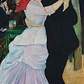 Dance At Bougival Renoir by Eric  Schiabor