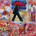 Dance In The Rain Under A Red Umbrella by Patricia Awapara