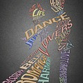 Dance Lovers Silhouettes Typography by Georgeta Blanaru