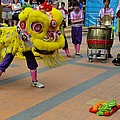 Dance Troupe Performs Chinese Lion Dance Singapore by Imran Ahmed