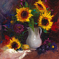Dance With Me - Sunflower Still Life by Talya Johnson