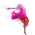 Dancer Jump On White Background With by Proxyminder