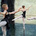 Dancers At Work by Eric Wallis