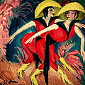Dancers In Red by Ernst Ludwig Kirchner