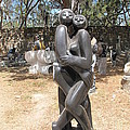 Dancing Couple In The Garden by Frank Chipasula