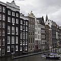 Dancing Houses Damrak Canal Amsterdam by Teresa Mucha