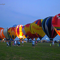 Dancing In The Moonlight Hot Air Balloons by Thomas Woolworth