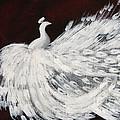 Dancing Peacock Burgundy by Anita Lewis