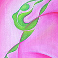Dancing Sprite In Pink And Green by Tiffany Davis-Rustam