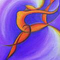 Dancing Sprite In Purple And Orange by Tiffany Davis-Rustam