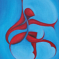 Dancing Sprite In Red And Turquoise by Tiffany Davis-Rustam