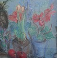Dancing Still Life In Pastel by Patricia Kimsey Bollinger