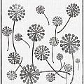Dandelion Seeds Grey by Barbara Griffin