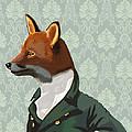 Dandy Fox Portrait by Kelly McLaughlan