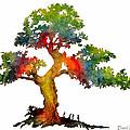 Da140 Rainbow Tree Daniel Adams by Daniel Adams