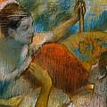 Danseuse A L'eventail by Edgar Degas
