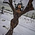 Daphene Sculpture On A Winter Day by Sven Brogren