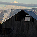 Dark Barn And Mt Mclaughlin by Mick Anderson