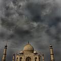 Dark Clouds Over Taj Mahal by Amanda Stadther