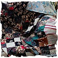 Dark Colored Blocks Patchwork Quilt  by Barbara Griffin