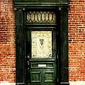 Dark Green Doorway Photograph Print by Laura Carter