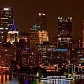Dark Pittsburgh Skyline by Adam Jewell