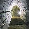 Dark Tunnel And Staircase by Russ Dixon