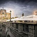 Dark Winter Evening At Castel Sant'angelo - Rome by Mark E Tisdale