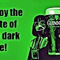 Darth Drinks Guinness by Florian Rodarte