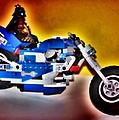 Darth Vader Rides A Harley  Hdr by Thomas  MacPherson Jr